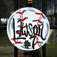 baseball gifts for players | Baseball Door Hanger Baseball team gift by LooLeighsCharm on Etsy