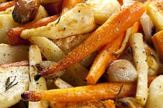 Try our roasted root vegetables recipe with horseradish vinaigrette for a tasty and healthy side dish at your holiday dinner. Side Dish Recipes, Vegetable Recipes, Wine Recipes, Real Food Recipes, Vegetarian Recipes, Cooking Recipes, Healthy Recipes, Vegetable Medley, Vegetable Stock
