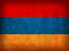 Armenia Flag Vintage Distressed Finish Mixed Media