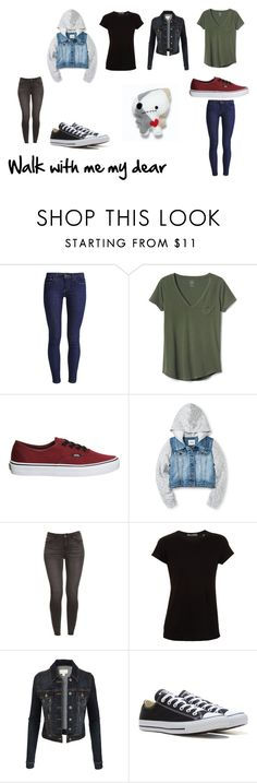 """""""Walk with me"""" by xxspooky-scary-danixx on Polyvore featuring Levi's, Vans, Vince, LE3NO and Converse"""
