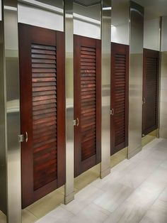 Ironwood Manufacturing Louvered Doors With Stainless Steel