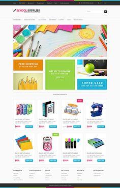School supplies #OpenCart #webtemplate #themes #business #responsive #template