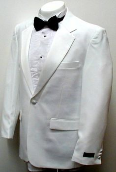 New Mens Single Breasted (SB) One Button White Tuxedo Suit - High Quality, Low Cost, Great Value!