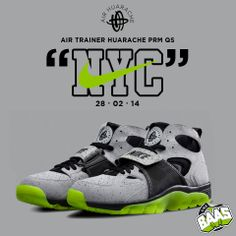 "Nike Air Trainer Huarache PRM QS ""NYC""  Release date: 28-02-14  Code: 647591-001"