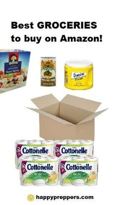 Best PREPPER groceries to buy on Amazon: + Learn how to get FREE groceries on Amazon: http://www.happypreppers.com/Amazon.html