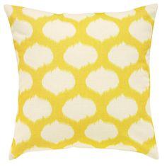 Ikat Cushion Cover Yellow