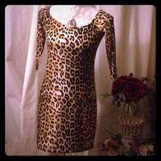 Leopard print mini dress Nwt, similar to pic #4 (not the same). Forever 21 Dresses Mini
