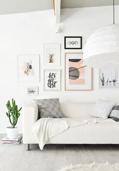 Or if you already have art, rearrange it into a gallery wall. | 17 Ways To Cozy Up Your Home For $0