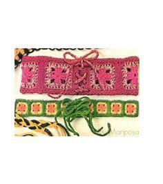 Patron pdf de tejido en crochet cinturones a la por Liloumariposa