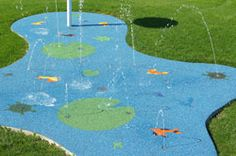 splash pad in your backyard.  Heck yes!