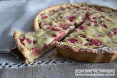 137-tarta-z-rabarbarem-i-budyniem-kuchniawedwoje-pl Dessert Spoons, Mince Meat, French Toast, Muffin, Meals, Breakfast, Cake, Sweet, Food