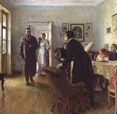 Илья Репин. Не ждали. Ilya Repin. Unexpected Return. Русские художники. Russian Artists. Шедевры русской живописи | Русские художники. Russian Artists www.tanais.info1000 × 981Buscar por imagen Изменить масштаб To change scale Chen%2520Yifei - Buscar con Google