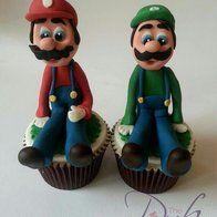 mario og luigi cupcakes
