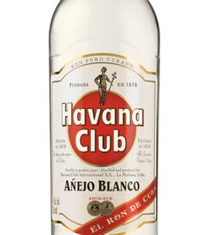 "Havana Club - Anejo Blanc - Havana Club Añejo Blanco is the youngest of Havana Club's aged rums. It reflects Cuba's expertise at making light, white rums, whilst ""añejo"" highlights to the natural ageing process common to all Havana Club rums. A series of careful and balanced blends of aguardientes, which are aged in oak casks, gives life to this young white rum. It is light and aromatic with mellow, sun-coloured tones and the fruity flavour of freshly pressed sugarcane. (read more...)"