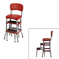 image of Cosco® Retro Chair/Step Stool in Red