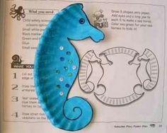 a2ec66ea9bdb Sea horses Preschool Beach Crafts