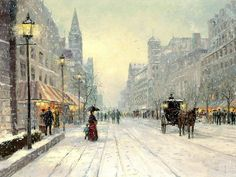Winter's Dusk (Robert Girrard) by Thomas Kinkade is a signed numbered limited edition on canvas published from a Thomas Kinkade painting. Texas Art Depot is the Authorized Thomas Kinkade Dealer, Gallery in East Texas and Palestine, Texas Thomas Kinkade Art, Thomas Kinkade Christmas, Winter Painting, Winter Art, Winter Snow, City Painting, Online Painting, Painting Art, Oil Painting Pictures
