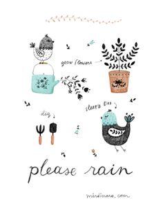 mirdinara: Please Rain #print #illustrator