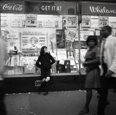 Vivian Maier - New York (Woman Leaning on Storefront Window), c.1960