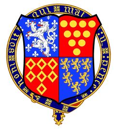 Sir Thomas Holland, 1st Lord Holland, 1st Earl of Kent.  Invested:  1348  (Founder Knight).   Illustrated by David Waterton-Anderson, KSG, OLJ.