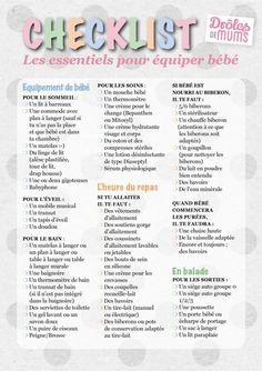 La checklist pour s'équiper pour bébé http://drolesdemums.com/mes-outils-pratiques/checklist-s-equiper-pour-l-arrivee-de-bebe