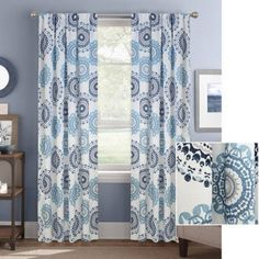 Better Homes and Gardens Kaleidescope Medallion Curtain Panel 52 x 84 Blue * Want to know more, click on the image. (This is an affiliate link) #WindowTreatments