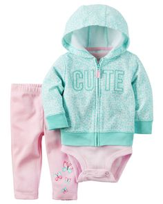 Baby Girl 3-Piece Little Jacket Set from Carters.com. Shop clothing & accessories from a trusted name in kids, toddlers, and baby clothes.
