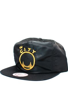 San Francisco Warriors The City Nylon Zipback Hat (Black) Brand: Mitchell & Ness Black Underbill Brand New With Tags Dope Hats, Urban Hippie, Golden State Warriors, Ties, San Francisco, Baseball Hats, Brand New, Black, Style