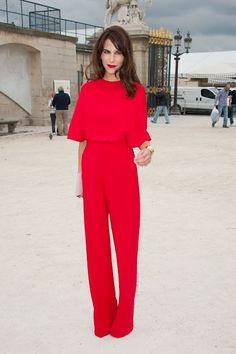 Caroline Sieber en Red Valentino.