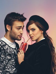 British actors Douglas Booth and Emma Watson are photographed by Christian Oita and styled by Matthew Josephs for the February/March 2014 issue of Wonderland magazine.
