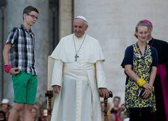 Pape François - Pope Francis - Papa Francesco - Papa Francisco : 5 août 2014 rencontre 50 000 enfants de choeur allemands