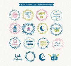 Digital clip art Eid mubarak and ramadhan clip art for