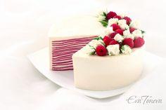 Raspberry crepes cake1