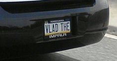 17 Hilarious License Plates You Wish You Had For Your Car! Funny Picture Quotes, Funny Pictures, Funny Quotes, Vanity License Plates, Bram Stoker's Dracula, Love Puns, Vanity Plate, Friend Memes, Laugh At Yourself