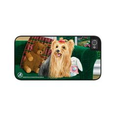 """Airstrike® Yorkie Phone Case, Yorkie iPhone 5s Case, Yorkshire Terrier Dog iPhone 5 Case, Dog iPhone Protective Case """"Center of Attention"""" 50-5345"""