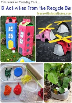 Learn with Play at home: 8 Activities using Materials from the Recycle Bin