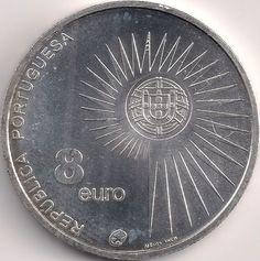 Wertseite: Münze-Europa-Südeuropa-Portugal-Euro-8.00-2004-União Europeia