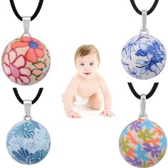 2016 New Special Design Chinese Style Angel Caller Harmony Bola Ball Pendant Colorful Print Mexcian Bola Pregnant Jewelry Gift Chinese Style, Jewelry Gifts, Christmas Bulbs, Pendants, Angel, Pendant Necklace, Holiday Decor, Stuff To Buy, Retail