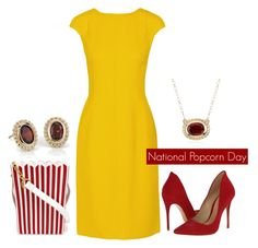 """National Popcorn Day"" by bluenile ❤ liked on Polyvore featuring Oscar de la Renta, Schutz, MUA MUA, Blue Nile, women's clothing, women, female, woman, misses and juniors"