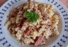 Hlíva s květákem na mozeček nebo zapečená Oysters, Granola, Tofu, Potato Salad, Grains, Potatoes, Ethnic Recipes, Catalog, Potato