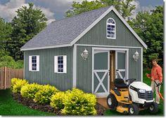 Belmont Wood Storage Shed Kit / Lawn Building / Garden / Barn / Artist Studio / Pool House / Workshop / Sewing Room / Barn