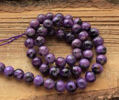Чароит шар 8 мм гладкий бусины камни для украшений. Handmade.