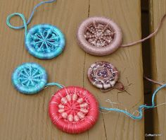 dorset button with beads