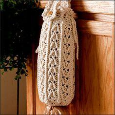 PLASTIC BAG HOLDER: http://www.crochet-world.com/patterns/pdfs/01199_PlasticBagHolder.pdf