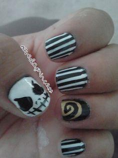 black and white nails | Tumblr