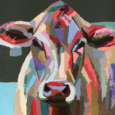 BOLD by Kate Mullin Williford. Cow Oil Painting.
