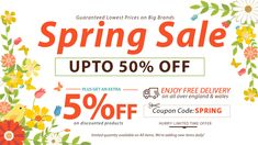 Mega Spring Furniture #Sale & #Deals Get UP TO 50% + FLAT 5% #DISCOUNT + #FREE DELIVERY on Bed Frames, Italian Beds, Kids #Beds, Sofa Beds, TV Beds, Ottoman Beds, Divan Beds, #Mattresses, Wardrobe, #Headboards, Dressing #Tables and #Bedroom #Furniture. #fashion #luxury