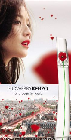 Shu Qi in Kenzo Flower by Kenzo Fragrance Spring/Summer 2013 Campaign Perfume Glamour, Perfume Parfum, Cosmetics & Perfume, Best Perfume, Perfume Oils, Perfume Bottles, Kenzo Parfum, Body Butter, Poppies