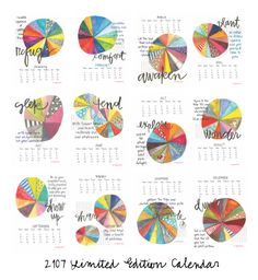 DIGITAL - 2017 Monthly Calendar Printable by silvertreeart on Etsy