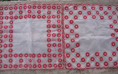 flocked Christmas hankies handkerchiefs pair by rivertownvintage